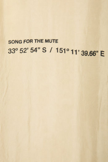 "SONG FOR THE MUTE ""Coordinates"" Oversized Long Shirt 2"