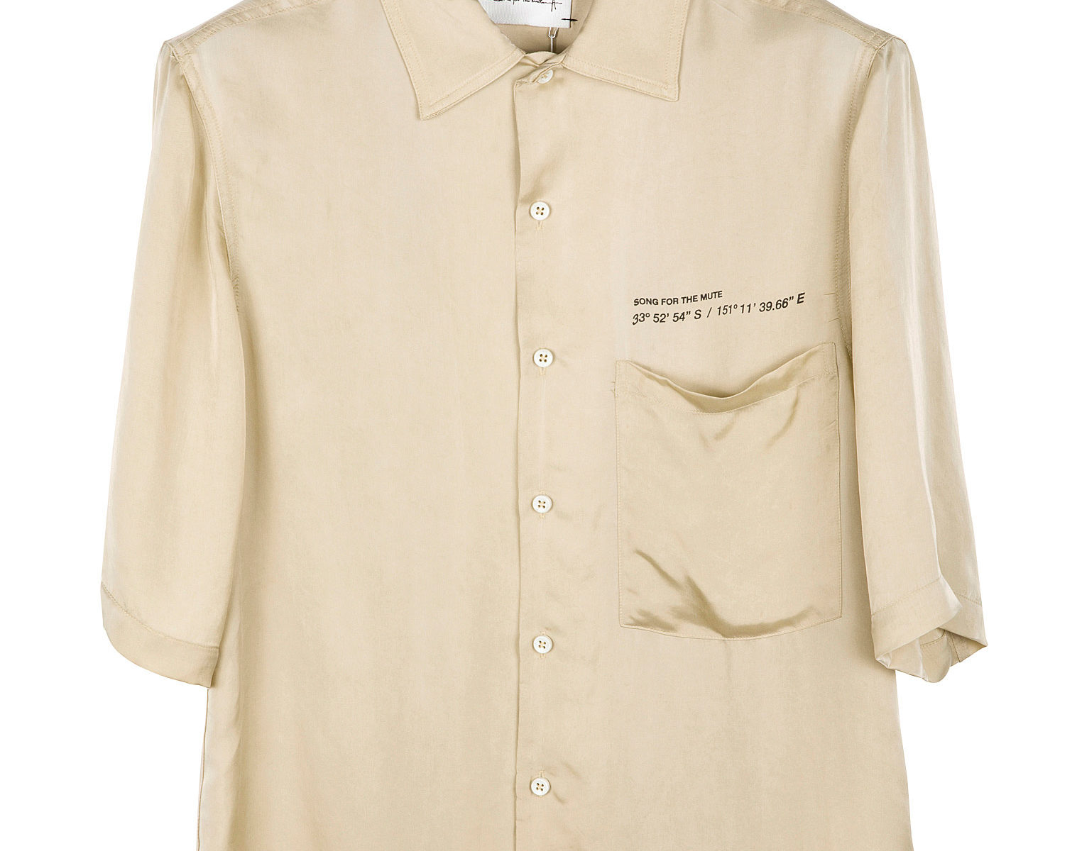 SONG FOR THE MUTE Coordinates Oversized Shirt 1