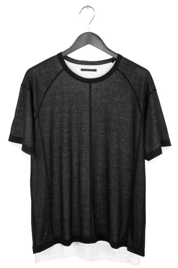 THE VIRIDI-ANNE Double Layer T-Shirt 1