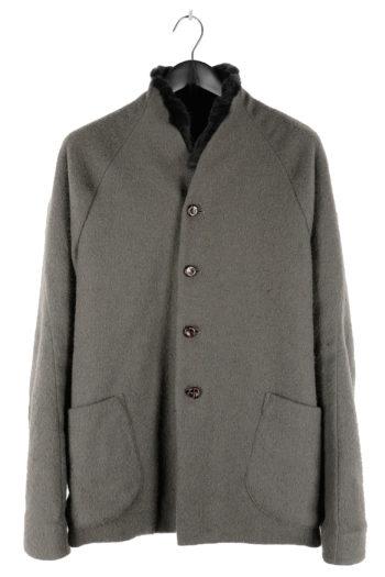 DEVOA Rabbit Fur Lined Short Coat 01