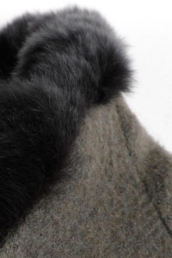 DEVOA Rabbit Fur Lined Short Coat 03