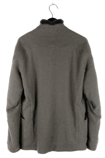 DEVOA Rabbit Fur Lined Short Coat 04