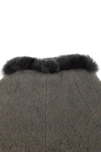 DEVOA Rabbit Fur Lined Short Coat 05