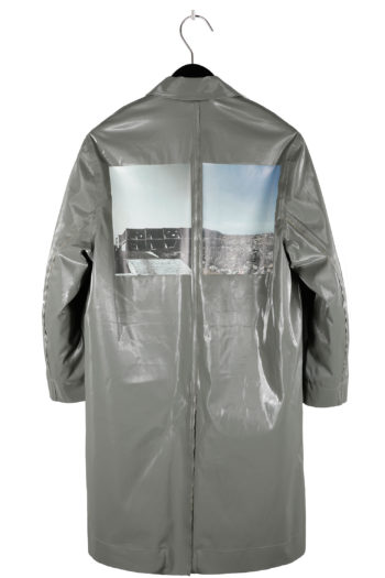 SONG FOR THE MUTE Landfill Padded Reflective Coach Coat 04