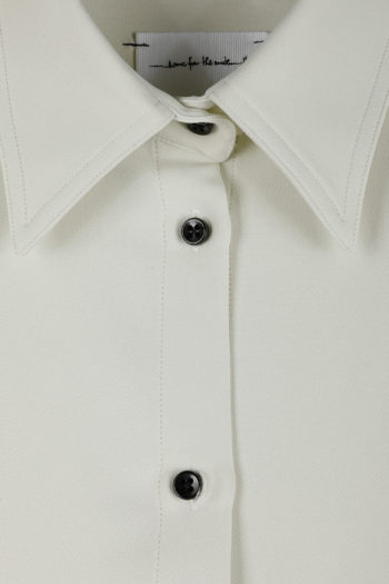 SONG FOR THE MUTE Plastic Cropped Shirt 02