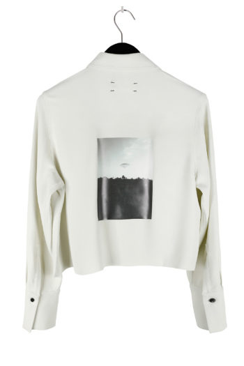 SONG FOR THE MUTE Plastic Cropped Shirt 03