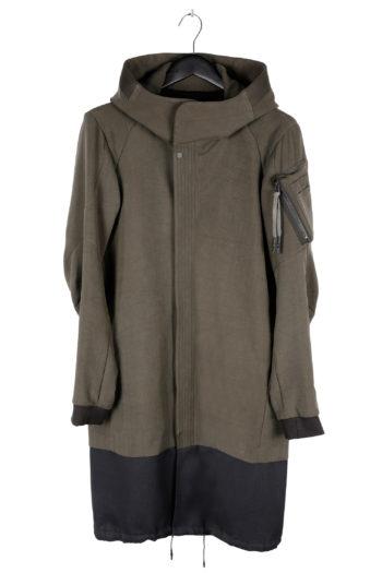 DEVOA Silk Hooded Coat 01