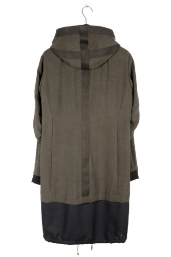 DEVOA Silk Hooded Coat 04