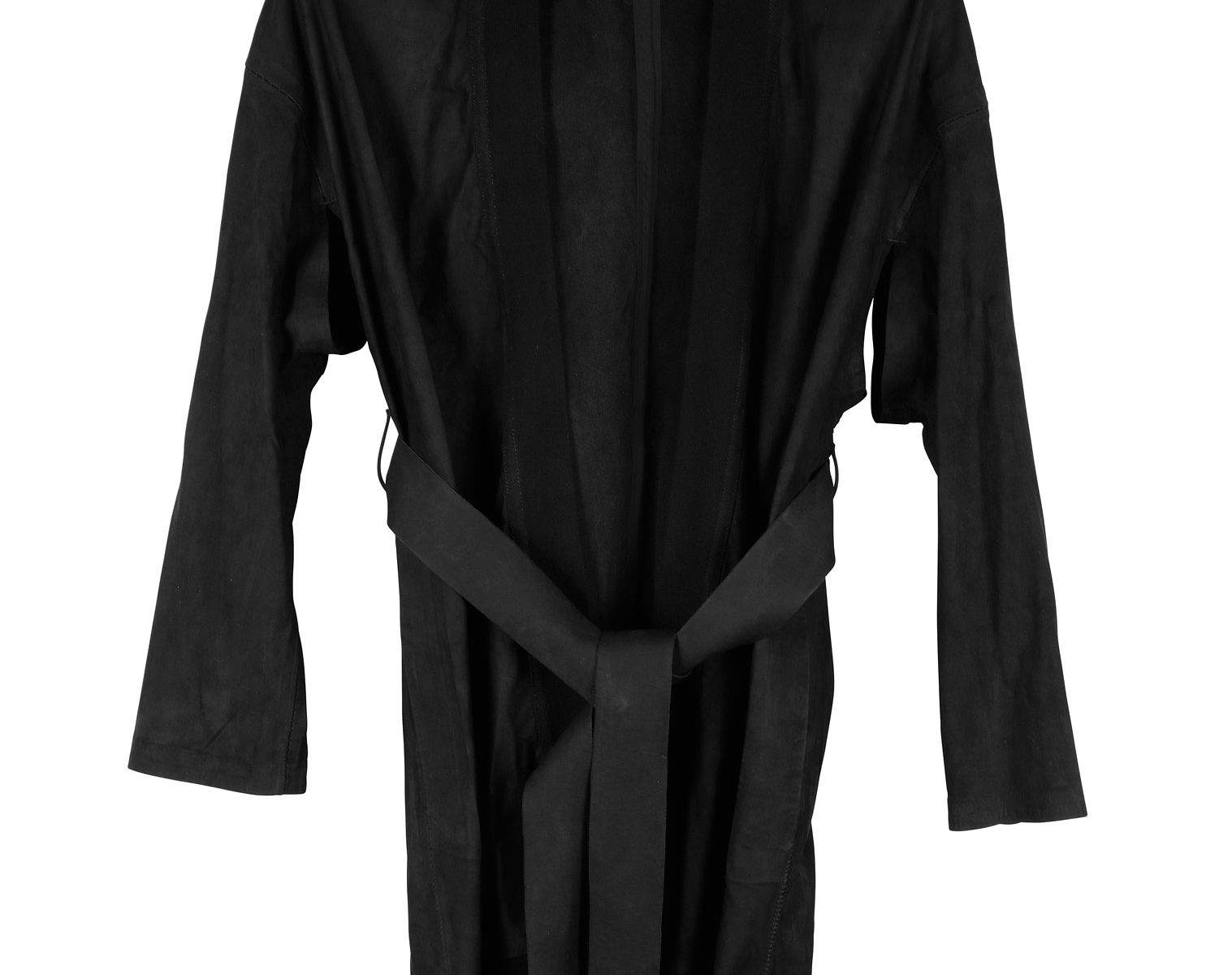 ISAAC SELLAM Leather Kimono Coat 01