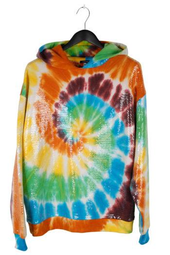 R13 Sequined Tie Dye Rainbow Hoodie 01