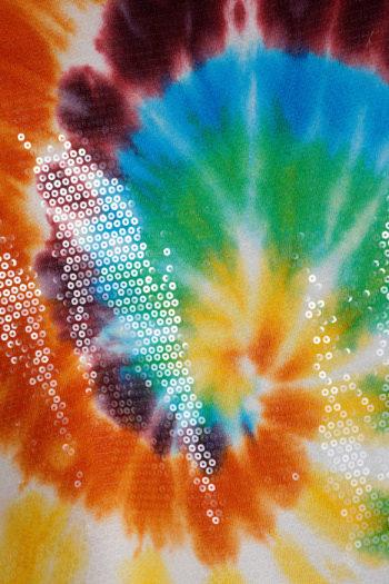 R13 Sequined Tie Dye Rainbow Hoodie 02