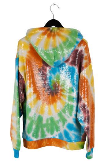 R13 Sequined Tie Dye Rainbow Hoodie 04