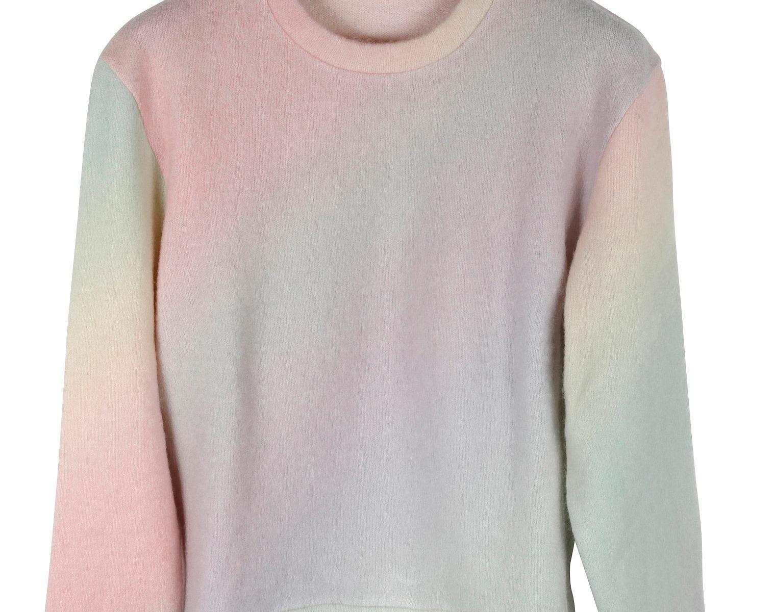 THE ELDER STATESMAN Printed Rainbow Felted Sweater 01