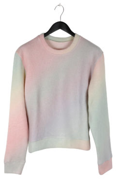 THE ELDER STATESMAN Printed Rainbow Felted Sweater 01