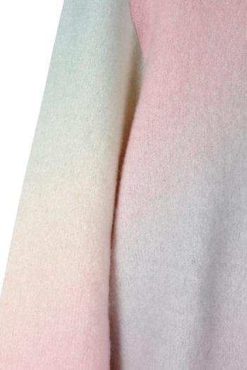 THE ELDER STATESMAN Printed Rainbow Felted Sweater 02