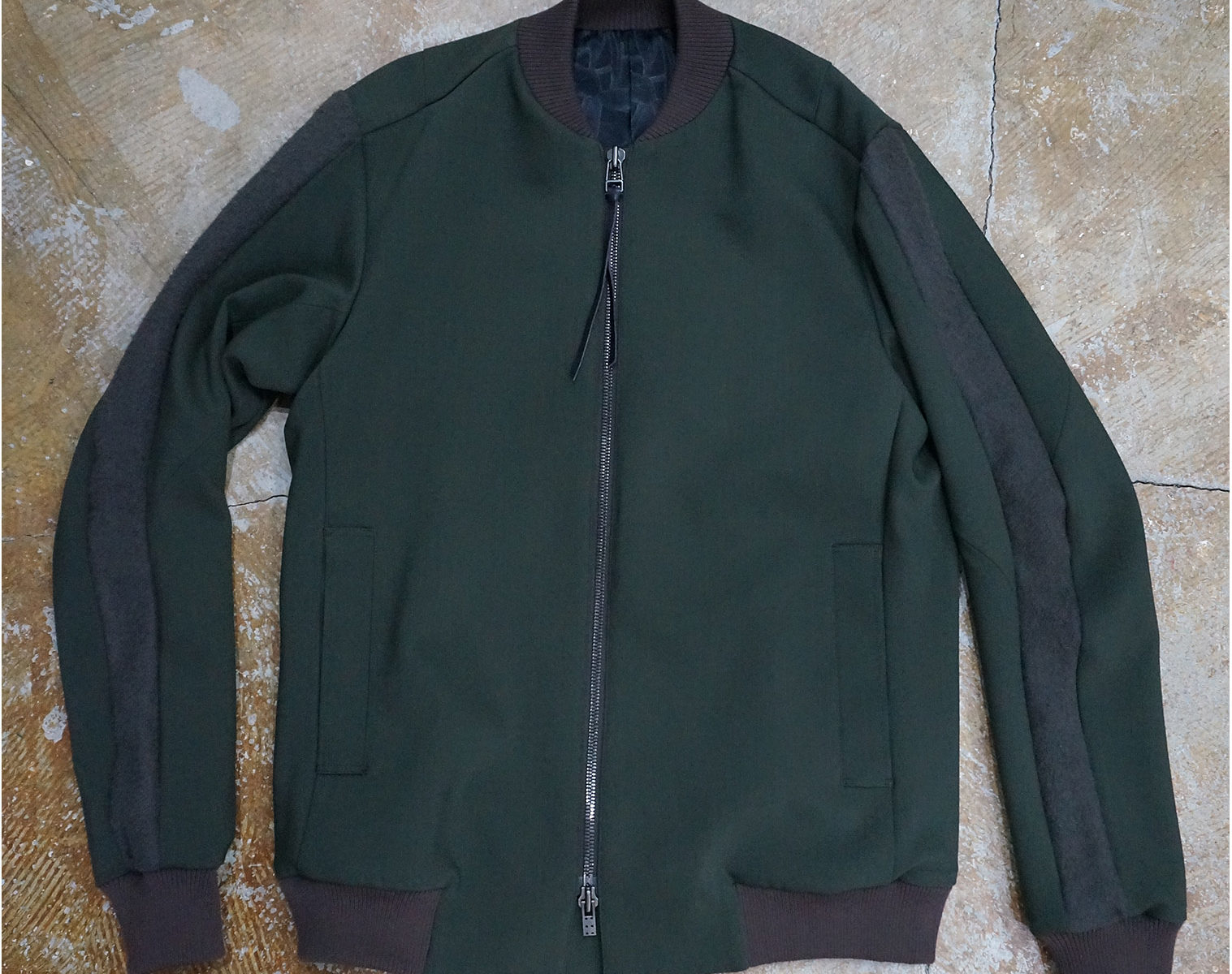 DEVOA 4way Stretch Light Wool Bomber Jacket 1