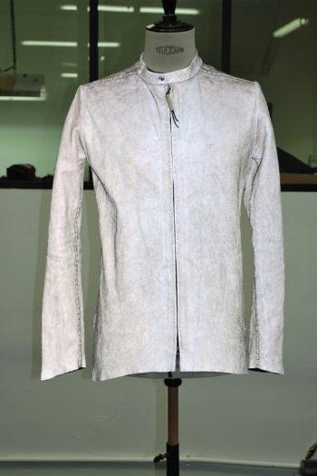 ISAAC SELLAM X light Reflective Leather Jacket 1