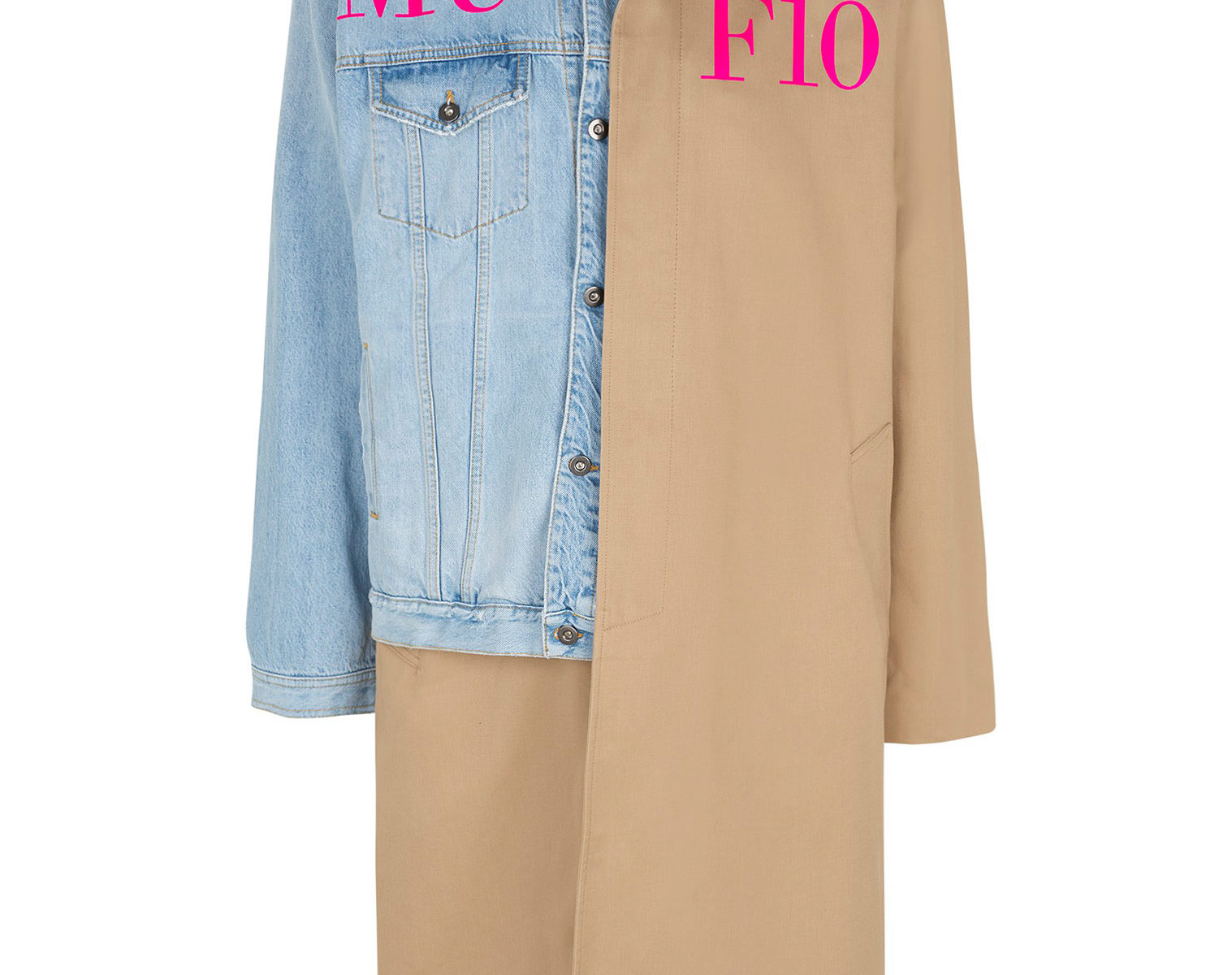 MUF10 Deconstructed Trench Denim Coat Under Pressure 1