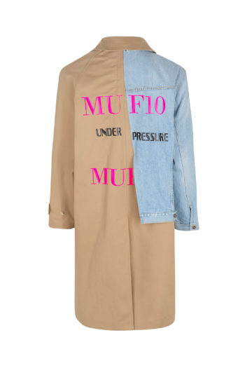 MUF10 Deconstructed Trench Denim Coat Under Pressure 2