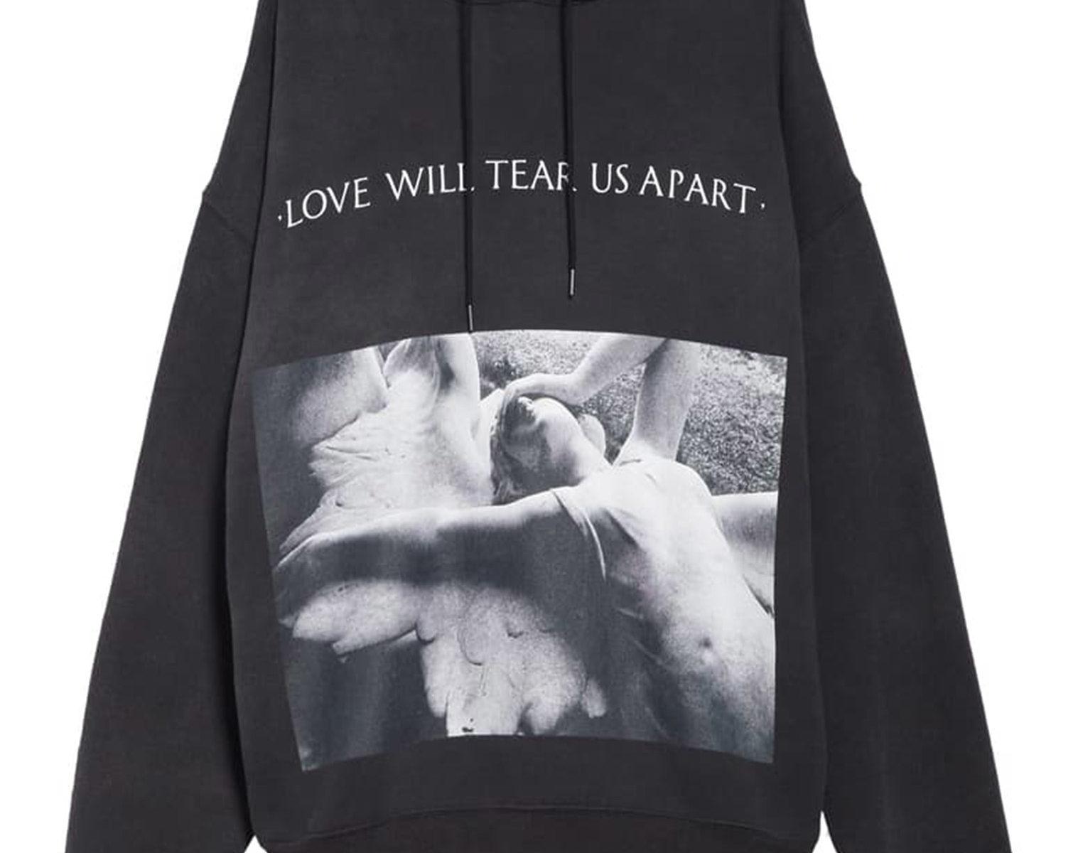 R13 Love Will Tear Us Apart Album Oversized Hoodie 1