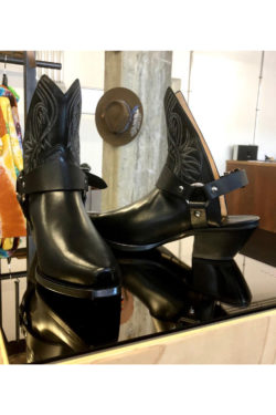 R13 Solid Open Heel Cowboy Boot 1