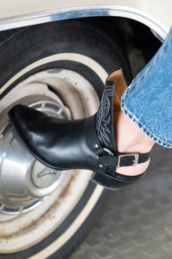 R13 Solid Open Heel Cowboy Boot 3