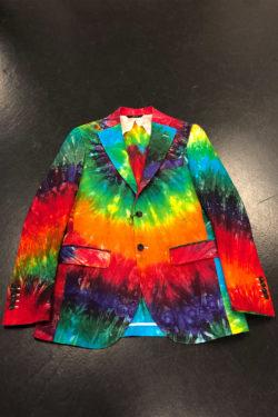 R13 Tie Dye Rainbow Boyfriend Blazer 1
