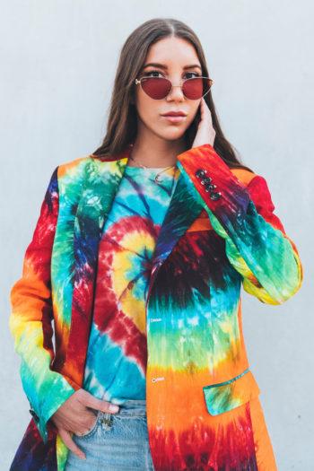 R13 Tie Dye Rainbow Boyfriend Blazer 3