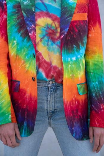 R13 Tie Dye Rainbow Boyfriend Blazer 4