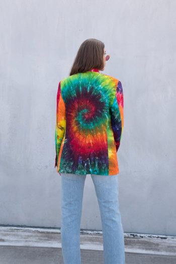 R13 Tie Dye Rainbow Boyfriend Blazer 5