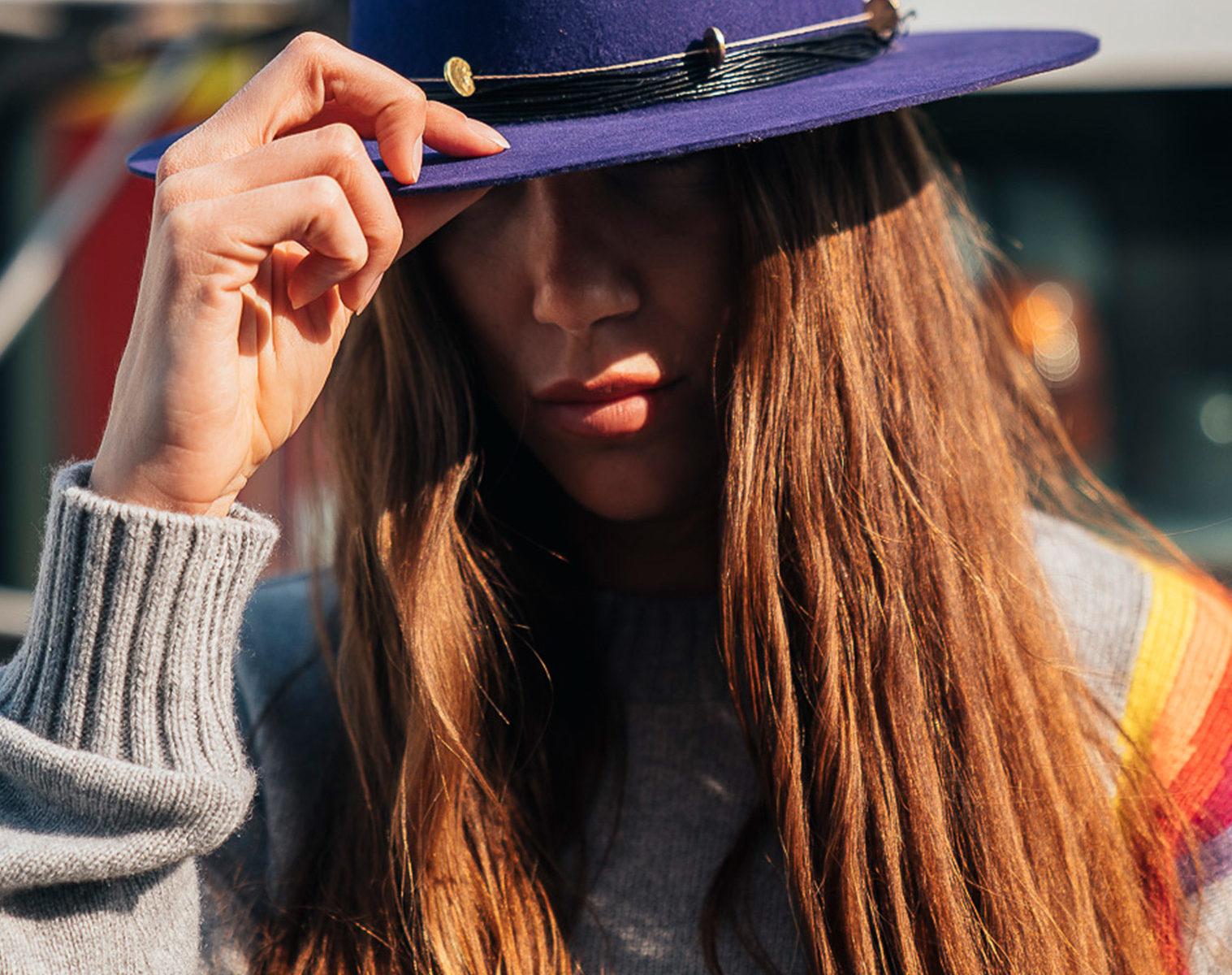 NICK FOUQUET Hat purpura 1