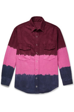 THE ELDER STATESMAN Dip Dyed Denim Work Shirt 1