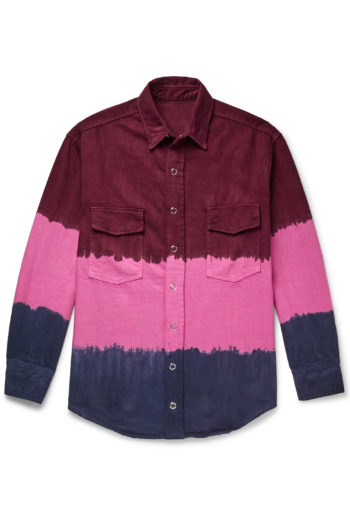 THE ELDER STATESMAN Dip Dyed Denim Work Shirt 1
