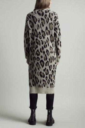 R13 Long Leopard Cashmere Cardigan 2