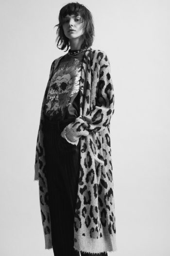 R13 Long Leopard Cashmere Cardigan 3