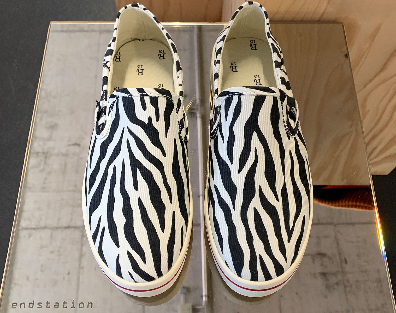 R13 Zebra Slip On Sneaker 1