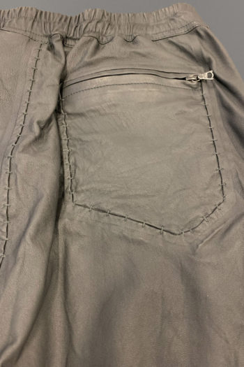ISAAC SELLAM Relaxed Leather Short 3