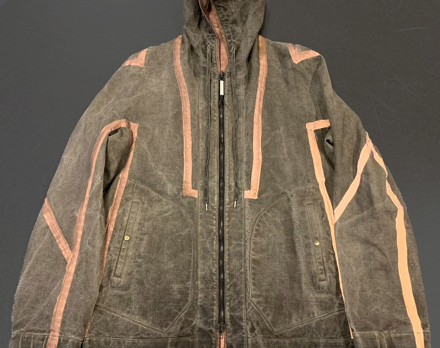 ISAAC SELLAM Reversible Copper Dyed Reflective Seam Taped Parka