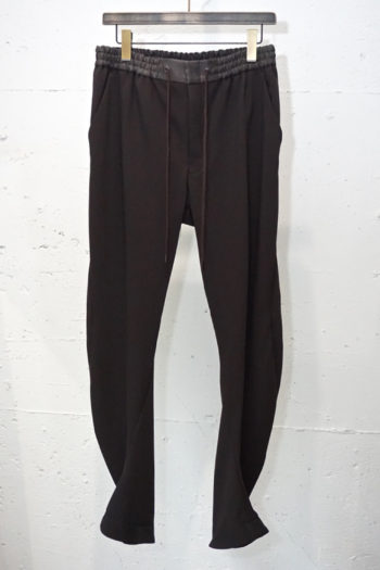 DEVOA 4Way Stretch Light Wool Drawstring Waist Slim Pants 1