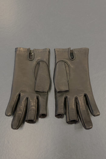 DEVOA Leather Gloves With Cut Off Fingertips 3