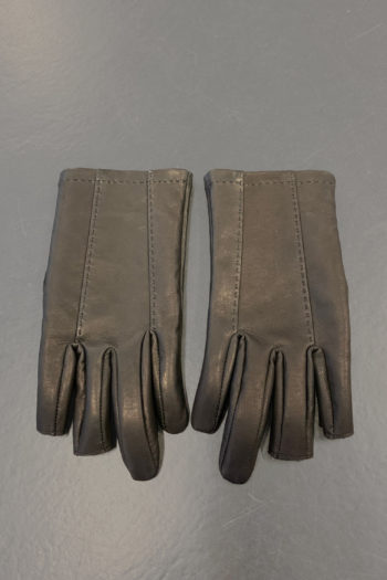 DEVOA Leather Gloves With Cut Off Fingertips 4