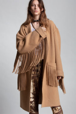 R13 Fringe Raw Cut Coat 1