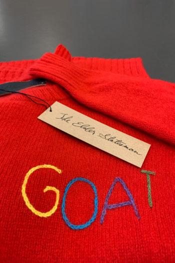 THE EDLER STATESMAN Goat Racing Crew Neck Sweater 2