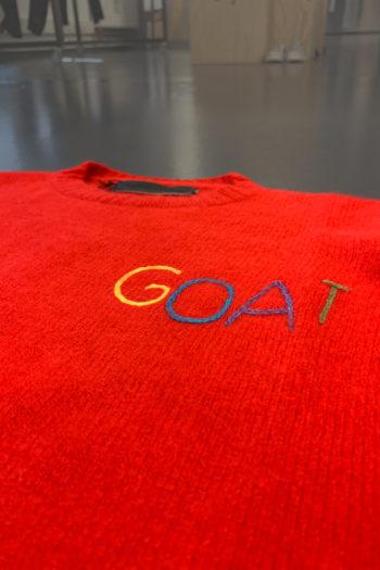 THE EDLER STATESMAN Goat Racing Crew Neck Sweater 3