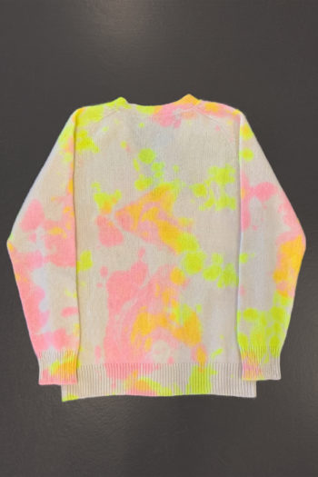THE ELDER STATESMAN Pigment Dyed Dub Dot Heavy Cardigan 4