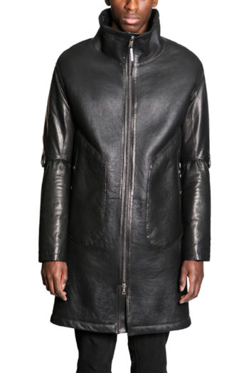 ISAAC SELLAM Shearling Leather Coat 4