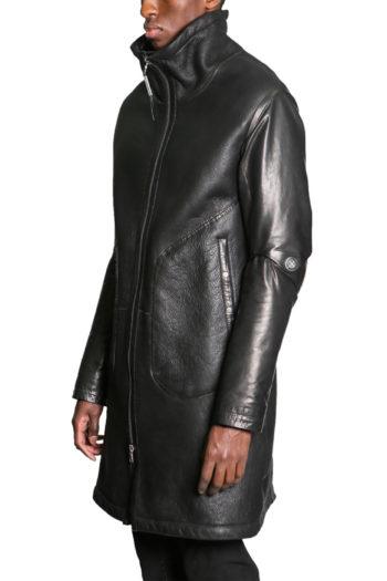 ISAAC SELLAM Shearling Leather Coat 5