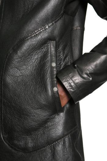 ISAAC SELLAM Shearling Leather Coat 6