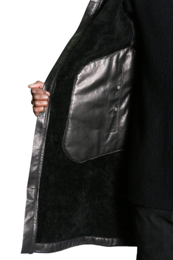 ISAAC SELLAM Shearling Leather Coat 7