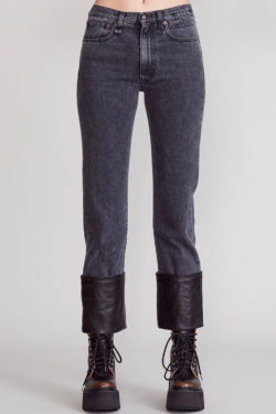 R13 Axl Slim Jeans W Leather Cuff 1